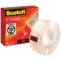 Scotch Crystal Tape - 19mm x 33m