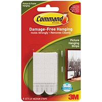 Command Picture Hanging Strips - Medium White - Pack of 4