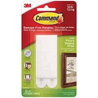 Command Picture Hanging Strips - Large White - Pack of 4