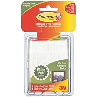 3M Command Pairs of Picture Hanging Strips Value Pack (Pack of 12)