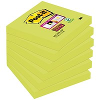 Post-it Super Sticky 76 x 76mm Asparagus (Pack of 6) 654-6SS-AW