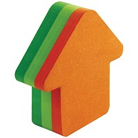Post-it Arrow Shaped Notes, 225 Notes, Neon Orange & Green - Pack of 12