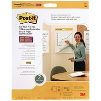 Post-it Super Sticky TableTop Meeting Chart Refill Pad (Pack of 2)