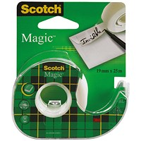 Scotch Magic Tape 810 19mm x 25m with Dispenser (Pack of 12)