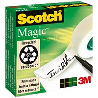 Scotch Magic Tape, 12mm x 66m, Matt, Pack of 2