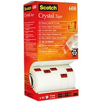 Scotch Crystal Tape 19mm x 33m (Pack of 14)