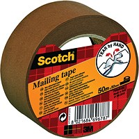 Scotch Paper Brown Mailing Tape 50mmx50m Non-Siliconised P.5050.S
