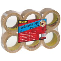 Scotch Packaging Tape Heavy 50mmx66m Clear (Pack of 6) PVC5066F6 T