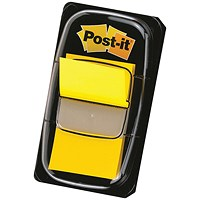 3M Post-it Index Tab 25mm Yellow with Dispenser 680-5