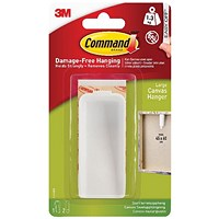 Command Canvas Hanger Large White with Hook and Strips