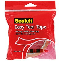 Scotch Easy Tear Clear Everyday Tape 25mm x 50m