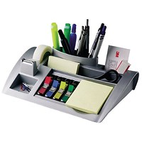 Post-it Desk Organiser Silver 6 Compartment
