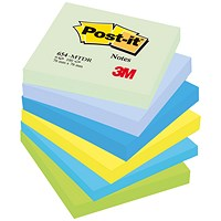 Post-it Colour Notes, 76x76mm, Dreamy Palette Rainbow Colours, Pack of 6 x 100 Notes