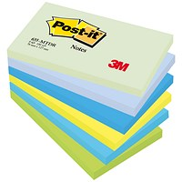 Post-it Colour Notes, 76x127mm, Dreamy Palette Rainbow Colours, Pack of 6 x 100 Notes