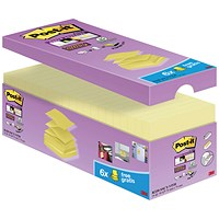 Post-It Super Sticky Z-Notes Value Pack, 76x76mm, Canary Yellow, Pack 20