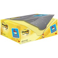 Post-it Note Value Display Pack - Dispenser with Pads, 76x127mm, Yellow, Pack of 20