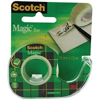 Scotch Magic Tape 19mm x7.5m Matte (Pack of 12)