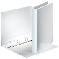 Esselte Presentation Binder, A4, 4 D-Ring, 25mm Capacity, White, Pack of 10
