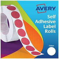 Avery Dispenser for 19mm Diameter Labels, White, 24-404, 1400 Labels