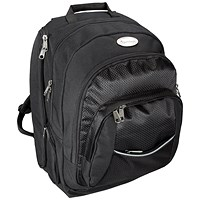 Lightpak Advantage Backpack with Detachable Laptop Sleeve, 17 inch Capacity, Nylon, Black