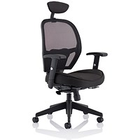 Influx Amaze Chair with Headrest - Black