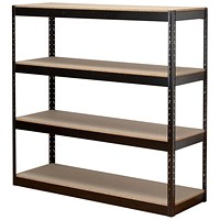 Influx Archive Shelving Unit, 4 Shelves, W1320mm Wide, Black