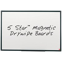 5 Star Lightweight Magnetic Drywipe Board, Detachable Pen Tray, W1200xH900mm