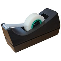 5 Star Desktop Tape Dispenser, Capacity: 19mm Width, 33m Length, Black