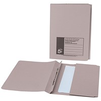 5 Star Back Pocket Flat Files, 38mm, Foolscap, Buff, Pack of 25