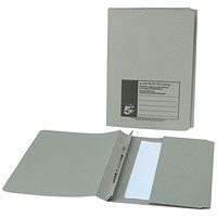 5 Star Back Pocket Flat Files, 38mm, Foolscap, Green, Pack of 25