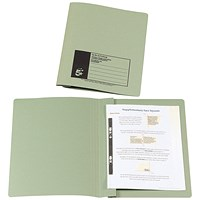 5 Star Flat Files, 38mm, Foolscap, Green, Pack of 50