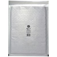 Jiffy Airkraft No.7 Bubble-lined Postal Bags, 340x445mm, Peel & Seal, White, Pack of 10