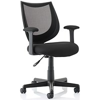 Influx Gleam SoHo Mesh Chair - Black