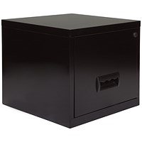 Pierre Henry Steel Cube Filing Cabinet, 1 Drawer, A4, Black