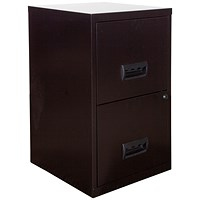 Pierre Henry A4 Filing Cabinet, 2-Drawer, Black