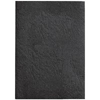 GBC Antelope Binding Covers, 250gsm, A4, Leathergrain, Black, Pack of 100