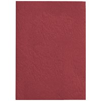 GBC Antelope Binding Covers, 250gsm, A4, Leathergrain, Red, Pack of 100