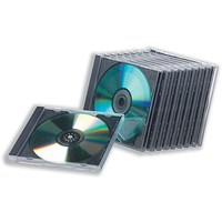 Standard Jewel CD Case / High Impact Protection for 1 Disk / Clear / Pack of 10