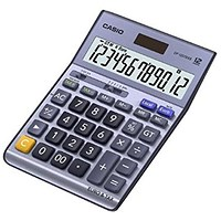 Casio Desktop Calculator, 12 Digit, 4 Key, Battery/Solar Power, Silver