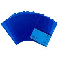 5 Star Cut Flush Folders, A4, Blue, Pack of 25