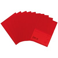 5 Star Cut Flush Folders, A4, Copy-safe, Red, Pack of 25