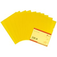 5 Star Cut Flush Folders, A4, Copy-safe, Yellow, Pack of 25