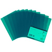 5 Star Cut Flush Folders, A4, Copy-safe, Green, Pack of 25