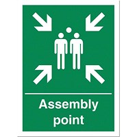 Stewart Superior Fire Assembly Point Sign W400xH600mm PVC