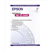 Epson A3 Matt Quality Inkjet Photo Paper, White, 102gsm, Pack of 100