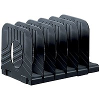 Avery Mainline Systemrack Extendable Book Rack with 6 Sections / W304xD183xH193mm / Black