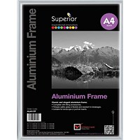 Photo Frame Clip In Aluminium with Clear Front - A4