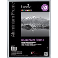 Photo Frame Clip In Aluminium with Clear Front - A3
