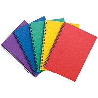 Sidebound Notebook, A4, Ruled, 120 Pages, Colour Assortment A, Pack of 10