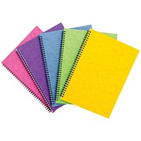 Sidebound Notebook, A4, Ruled, 120 Pages, Colour Assortment C, Pack of 10